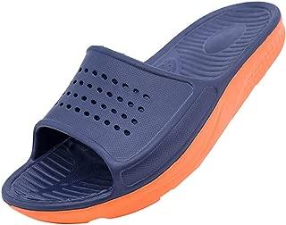 Corriee Womens Mens Household Slippers Flat Sandals Unisex Non-Slip Bathroom Shoes