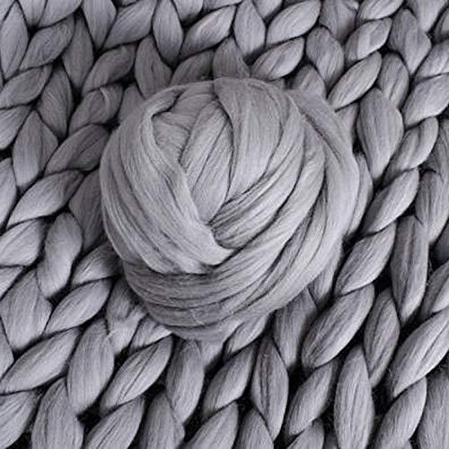Outtybrave Island-Wolle, sehr grobes Garn, super sperrige Arme, gestrickte Wolle, acryl, Medium Gray, Einheitsgröße