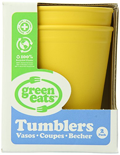 Green Eats 2 Pack Tumblers, Yellow