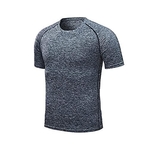 Quick - Camisetas deportivas para hombre, gris, 3XL
