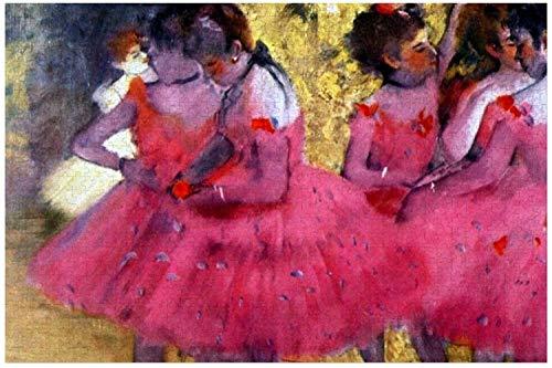 TLMYDD Edgar Degas Bailarines En Rompecabezas Rosados para Adultos, 500 Piezas Niños Rompecabezas Juego Juguetes Regalo para Niños Niños Y Niñas, 15'x 20' Día de San Valentín Presente
