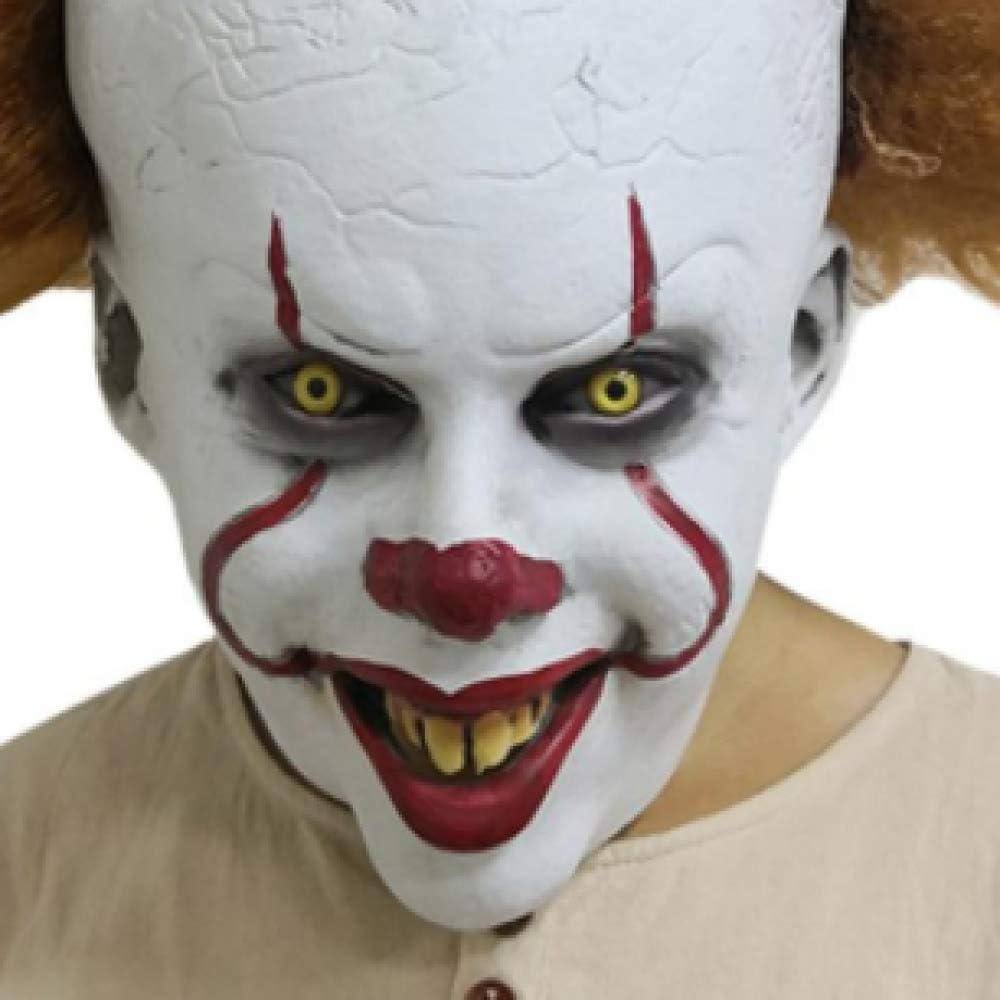 WWWL masker halloween Deluxe Clown Hoofdstuk Cosplay Masker Joker Halloween Fancy Party Prop B A