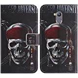 TienJueShi Skull Book-Style Flip Leather Protector Case
