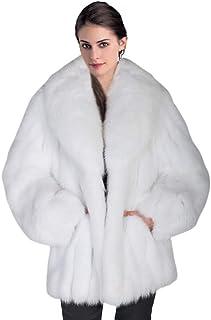 d1074565992 Rvxigzvi Womens Faux Fur Coat Plus Size Parka Jacket Long Trench Winter  Warm Thick Outerwear Overcoat