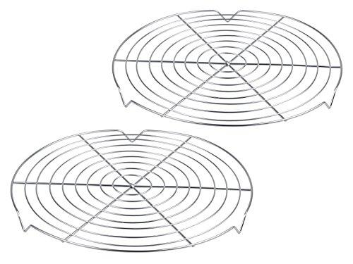 Chg 9946-17–Rejilla de Alambre para Tartas, de Acero Cromado, Set de 2