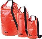 Xcase Transportsack: Urlauber-Set wasserdichte Packsäcke 16/25/70 Liter, rot (Waterbags)