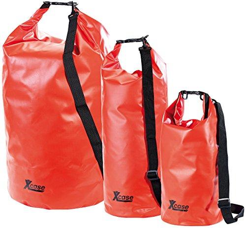 Xcase Packsack aus LKW-Plane: Wasserdichter Packsack 16 Liter, rot (Overboard Beutel)