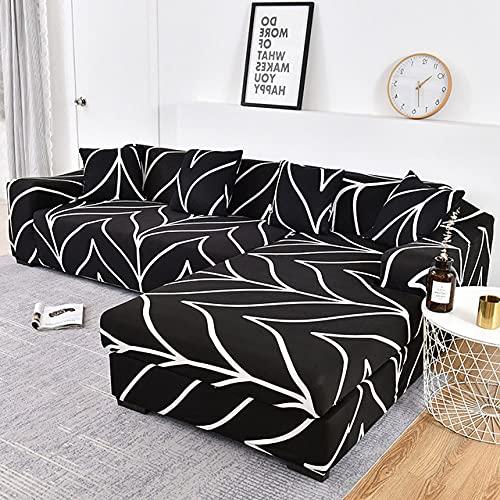 Funda de sofá Funda de sofá elástica Funda de Silla seccional Necesita Pedir 2 Piezas de Funda de sofá si su sofá es un sofá de Esquina en Forma de L, color6,1 Asiento 90,140cm