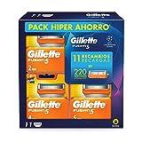 Gillette Fusion5 Cuchillas de Afeitar Pack Ahorro Champions League, Paquete de 11 Cuchillas de Recambio