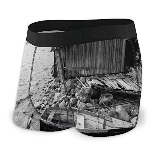Nancyint Viejo Barco de Pesca de Madera y Granero abandonado en el...