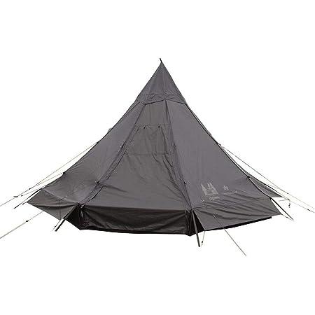 カナディアンイースト(Canadian East) アウトドア キャンプ テント ワンポールテント ピルツ12 【5~6人用】 ブラック CETO1005