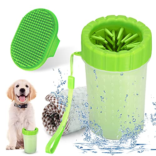 YMCCOOL Dog Paw Cleaner, Silicone Pet Cleaning Brush Cup,Dog Foot Washer...
