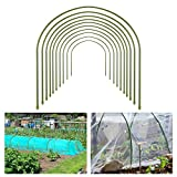 10pcs Greenhouse Hoops for Plant Cover Support- 19.7'x19.7' Rust Free Steel Gardening Houses Tunnel Support Frame with Plastic Coating Lightweight Tall Plant Grow Tunnel for Garden Fabric (Dia. 8mm)