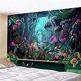 KHKJ Tapiz psicodélico para Colgar en la Pared, Tapiz de Seta, decoración de Pared, tapices para Dormitorio, Colegio, Dormitorio, decoración de habitación A5 150x130cm