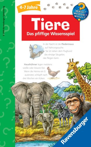 Ravensburger 23282 - Wieso? Weshalb? Warum? Tiere - Kinderspiel/ Reisespiel