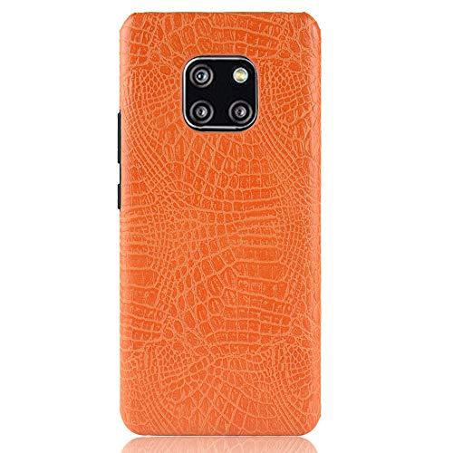 Para Huawei Mate 20 Pro capa de couro sintético com estampa de crocodilo (Amarelo)