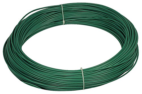 VERDELOOK Matassa Plast, Filo di Ferro plastificato, Diametro 3.3 mm Lunghezza 100 m, Verde
