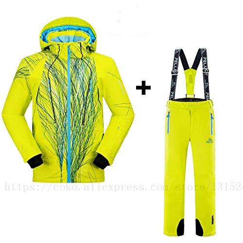 BCOGG Outdoor Winter Herren Skianzug Wasserdicht Skifahren/Schnee/Skate Sport Skifahren Jacke Sets Hosen S