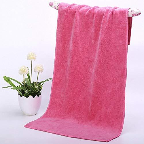 Toalla de baño Toalla de baño salón de belleza peluquería peluquería especial Baotou toalla de cabello seco toalla de baño para pies champú sala absorbente toalla grande extra gruesa pink_80x180cm kj