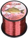 Akiro PRO-Carp 3, Filo da Pesca Unisex – Adulto, Rosso, 0.35 mm
