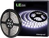 LE Tira LED, Cadena de Luces, 5m 300 LED SMD 2835, Blanco Frío, Resistente al Agua IP65, para Techo, Muebles, Cocina etc. no incluido fuente de alimentación