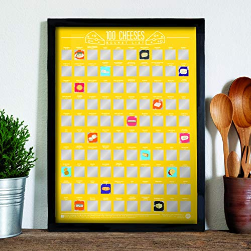 100 Cheeses Bucket List Scratch Poster