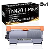 1 Pack TN-420 Black TN420 Compatible Toner Cartridge Replacement for Brother HL-2130 HL-2132 HL-2220 HL-2230 HL-2240 HL-2240D MFC-7240 MFC-7360N DCP-7060D DCP-7065D Intellifax 2840 Printers.