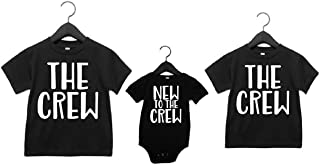 Sibling shirts set of 3 The Crew and New To The Crew- Pick Your Colors