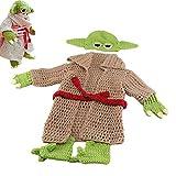 Bebé Recién Baby Yoda Disfraz Traje Bebé Foto Fotografía Accesorios Crochet Sombrero De Punto Pantalones Set 0-6 Meses,Baby