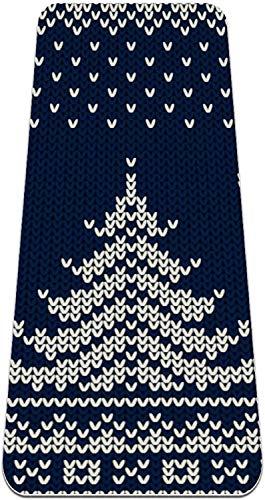 XIANWEI Material de Puntamiento de Puntos de Puntos de Navidad Azul Matería de Yoga Antes de la Yoga Forma para Mujeres; Matería de Pilates de Ejercicio de Ejercicio de Niñas, (72X24 En, 1/4-Pulgada