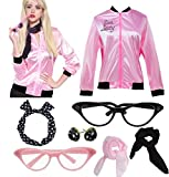 Womens Pink Party Jacket Costume with 50s Accessories...