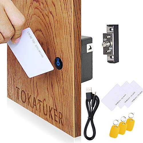 Invisible Electronic Cabinet Lock Kit Set Hidden DIY Lock with USB Cable for Wooden Cabinet Drawer Pantry Locker RFID Entry