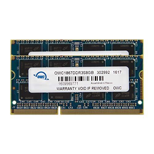 OWC 1867DDR3S16P Speichermodul 16GB DDR3 1867 MHz Arbeitsspeicher-Module (16 GB, 2 x 8 GB, DDR3, 1867 MHz, 204-pin SO-DIMM)