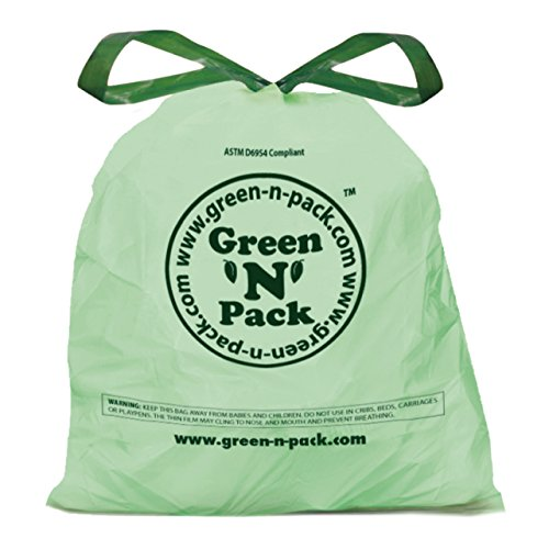 Green'N'Pack DSO4-120 Small Garbage Bags, Drawstring, 4 Gallon