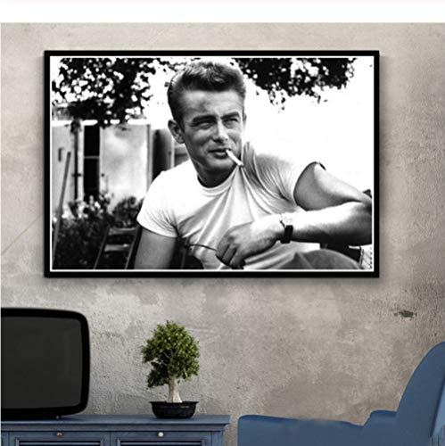 Hot James Dean Usa Filmschauspieler Star Paintings Poster Und Drucke Kunst Wandkunst Leinwand Wandbilder Für Wohnzimmer Obrazy Plakat 50 × 70Cm No Frame