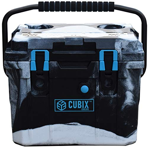 Cubix Camo Cooler 10 Quart | Camouflage Lifetime Rotomolded Ice Cooler | Portable and Hard Lunch Box | Perfect for Hunting and Fishing