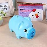 Raguso Tirelire en Plastique Mignon pièce d'argent en espèces à Collectionner Tirelire boîte d'économie d'argent pour Filles Enfants Enfants Cadeau d'anniversaire Cochon Jouet