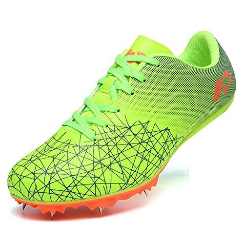 GLEYDY Zapatos De Atletismo Juvenil, 8 uñas Sprint Zapatos con Clavos Zapatillas Deportivas Zapatos De Entrenamiento Antideslizantes Zapatillas De Atletismo De Salto Ligeras con Clavos Unisex