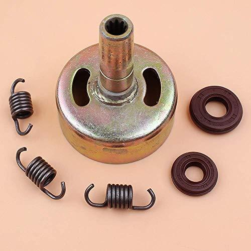 Kit de sello de aceite de cigüeñal de resorte de tambor de embrague de 9 dientes apto para HONDA GX25 GX 25 25cc Mini motor pequeño recortador de motor de gasolina