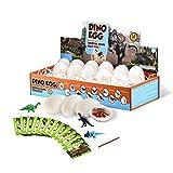 Huevos de dinosaurio, Juegos de fósiles Dig It Up Kit STEM Science Kits de manualidades Regalos para niños y niñas 12 Mini figuras de dinosaurio, tarjetas y herramientas Suministros de fiesta Favores