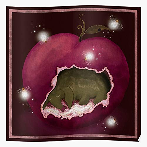 Sleepy Fireflies Apple Nap Sleep Fruit Coma Food Póster de regalo de Showtime para decoración del hogar de arte de pared de mayor venta