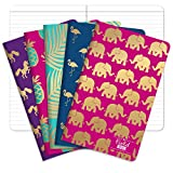 Field Notebook/Journal - Gold Foil Patterns - Lined Memo Book (5'x8') - Pack of 5