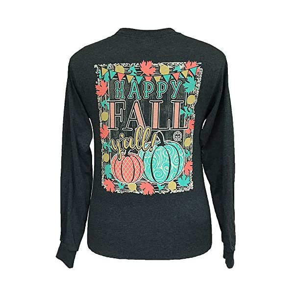 Girlie Girl Originals Happy Fall Y'all Long Sleeve T-Shirt Dark Heather
