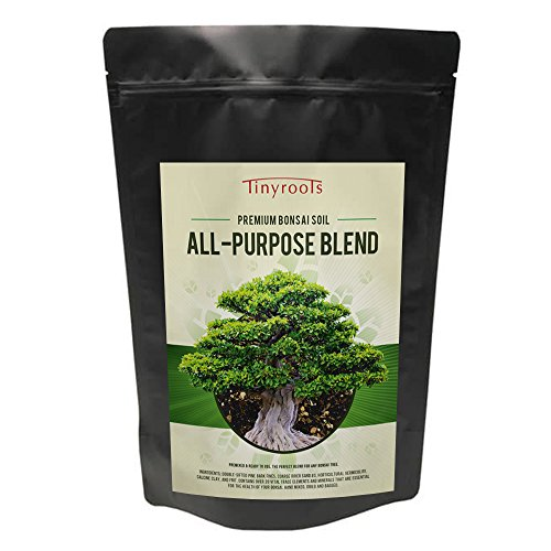 Bonsai Soil Mix by Tinyroots - All Purpose Organic Mixed Bonsai Tree Blend + Used for All Varieties of Bonsai Trees, 2.5qts.