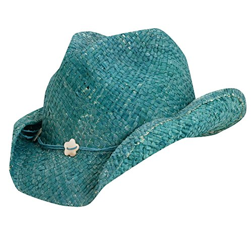 UV cowgirl hat for Kids from Scala - Turquoise