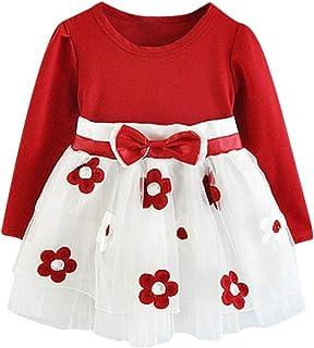 iixpin Baby M/ädchen Blumenm/ädchenkleid Prinzessin Kleid Taufkleid Festlich Kleid Hochzeit Partykleid Festzug Babybekleidung f/ür 3-24 Monate