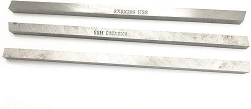 XMHF Square Blades Milling Cutting Boring Lathe HSS Tool Bit 200mm x 8mm x 8mm 3PCS