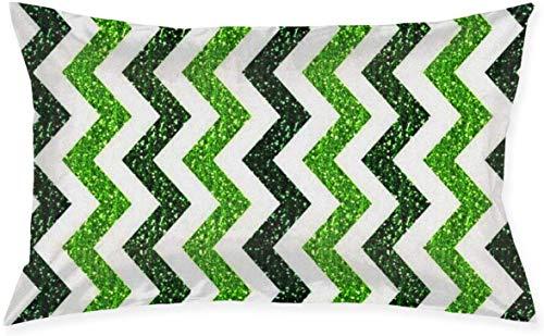 Just life Green Wave Stripes Throw Cojín Throw Pillow Cover Living Series Funda de Almohada Decorativa Diseño de Doble Cara 29,9'X 19,6'