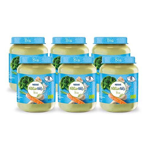 Naturnes Bio Broccoli, Pastinaak, Kalkoen 8+ maanden babymaaltijd - 6 potjes van 190 gram