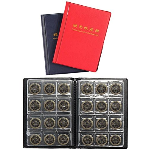 Bazaar 120 pièces de stockage de collection de livres de support de collecte d'argent penny poches album livre